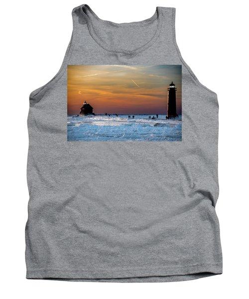 Frozen Lighthouse Tank Top