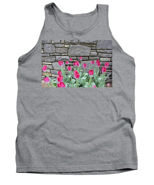 Fuchsia Color Tulips Tank Top