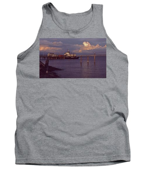 Tank Top featuring the photograph Fuel Dock, Port Townsend by Laurie Stewart