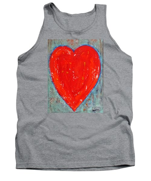 Tank Top featuring the painting Full Heart by Diana Bursztein