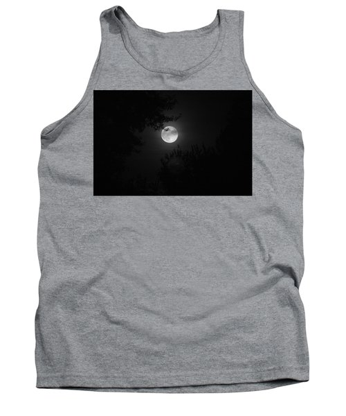 Full Moon With Branches Tank Top
