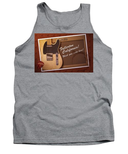 Tank Top featuring the digital art Fullerton Postcard by WB Johnston