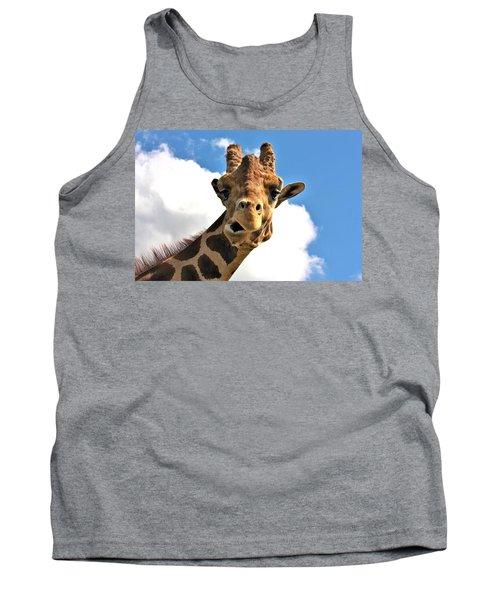 Funny Face Giraffe Tank Top