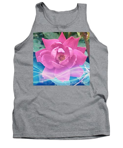 Fuschia Flower Energy Tank Top