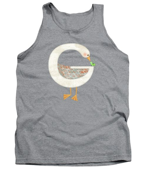 G Is For Goose And Grasshopper Tank Top by Valerie Drake Lesiak