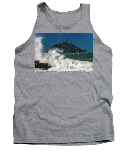 Gallinara Island Seastorm - Mareggiata All'isola Gallinara Tank Top