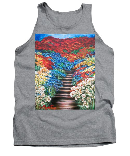 Red White And Blue Garden Cascade.               Flying Lamb Productions  Tank Top