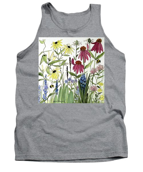 Garden Flowers With Bees Tank Top