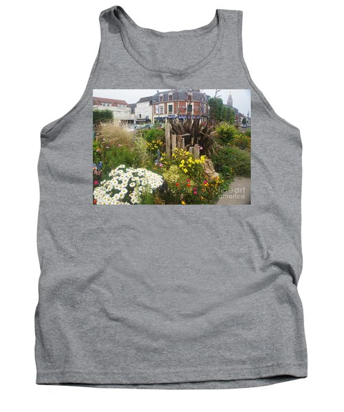 Tank Top featuring the photograph Gardens At Albert Train Station In France by Therese Alcorn