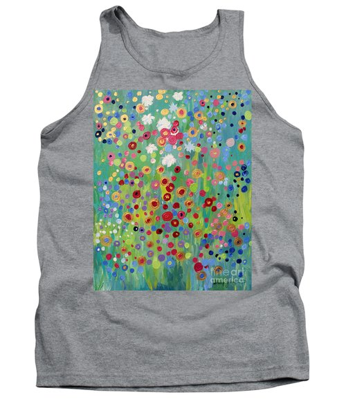 Tank Top featuring the painting Garden's Dance by Stacey Zimmerman