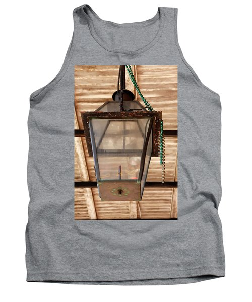 Tank Top featuring the photograph Gas Lamp French Quarter by KG Thienemann