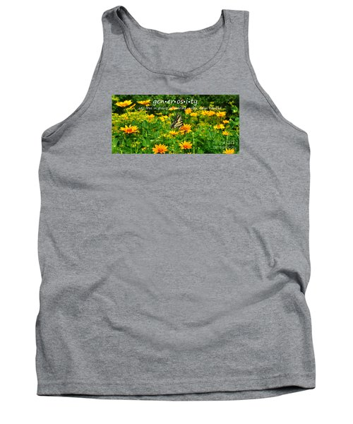 Tank Top featuring the photograph Gen Er Os I Ty  by Diane E Berry