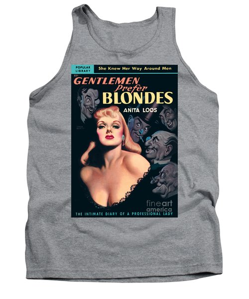 Tank Top featuring the painting Gentlemen Prefer Blondes by Earle Bergey