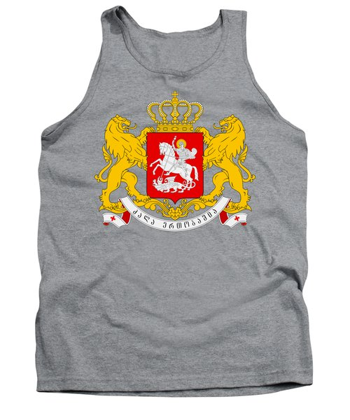 Tank Top featuring the drawing Georgia Coat Of Arms by Movie Poster Prints