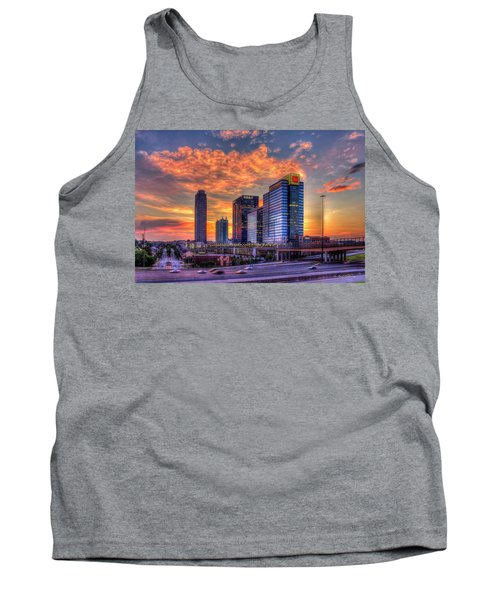 Georgia On My Mind Majestic Atlantic Station Midtown Atlanta Sunset Art Tank Top