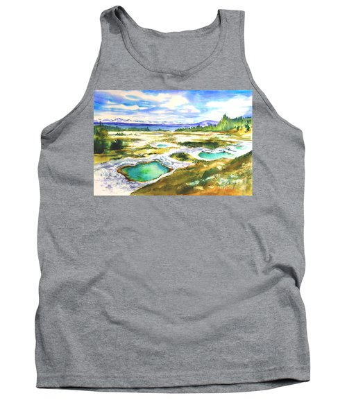 Geyser Basin, Yellowstone Tank Top