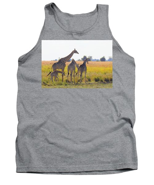 Tank Top featuring the photograph Giraffe Family by Betty-Anne McDonald