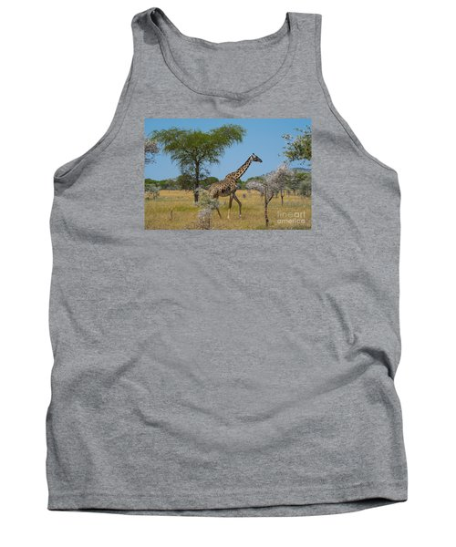 Giraffe On The Move Tank Top by Pravine Chester