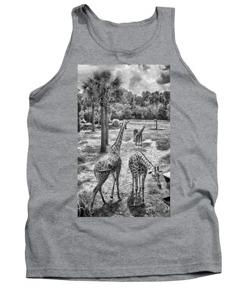 Tank Top featuring the photograph Giraffe Reticulated by Howard Salmon