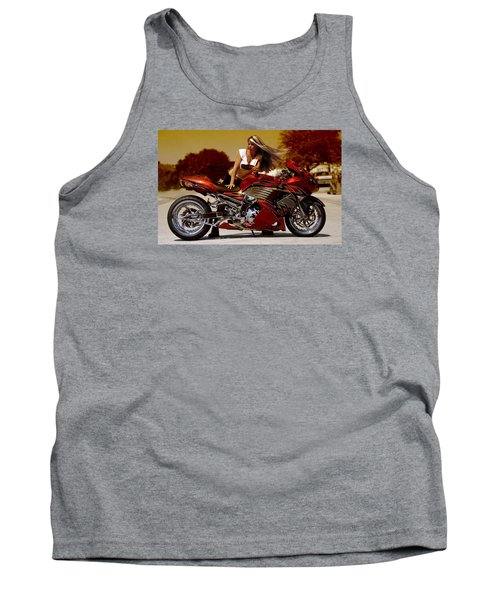 Tank Top featuring the photograph Girl On Fire by Lawrence Christopher