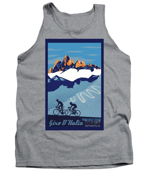 Giro D'italia Cycling Poster Tank Top