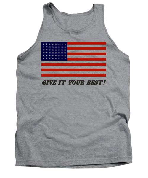 Give It Your Best American Flag Tank Top