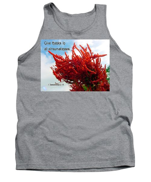 Give Thanks Tank Top