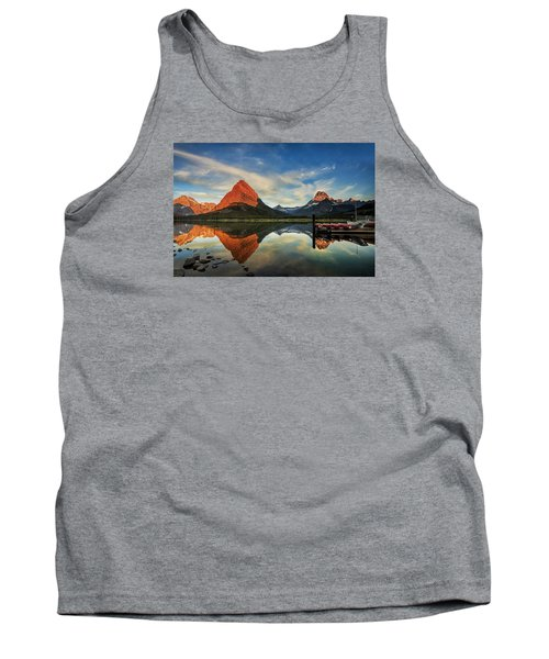 Tank Top featuring the photograph Glacier Morning by Andrew Soundarajan