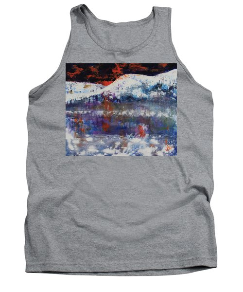 Tank Top featuring the painting Glacier Reflections by Walter Fahmy