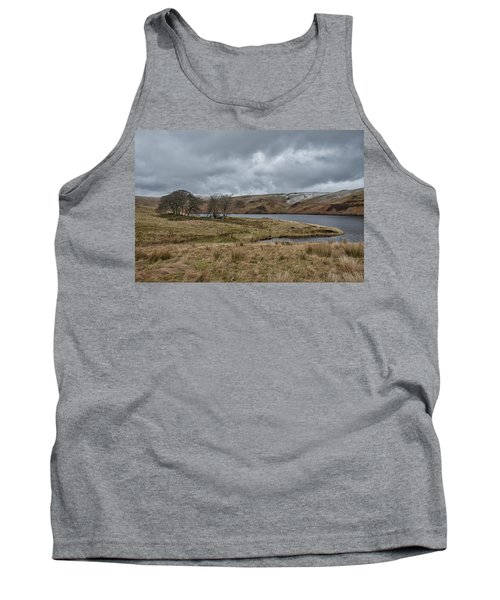 Tank Top featuring the photograph Glendevon Reservoir In Scotland by Jeremy Lavender Photography