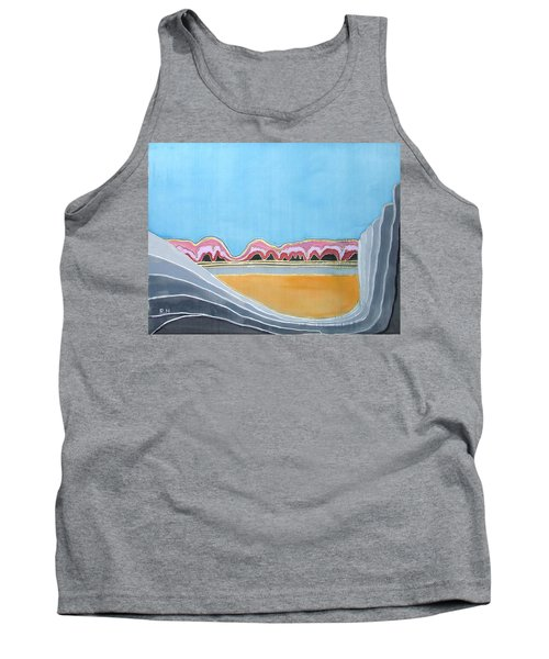 Global Warming Silk Melting Glaciers Valley Or Where Did All My Blue Glaciers Go  Tank Top by Rachel Hershkovitz