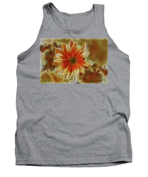 Glowing Flower Tank Top