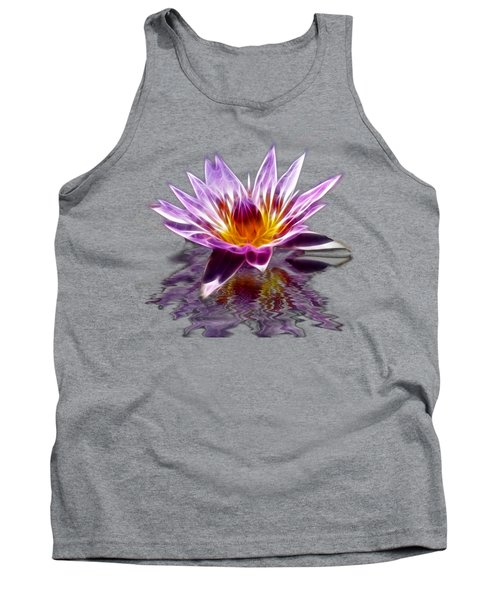 Glowing Lilly Flower Tank Top by Shane Bechler