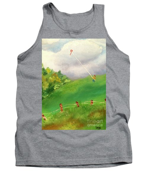 Tank Top featuring the painting Go Fly A Kite by Denise Tomasura