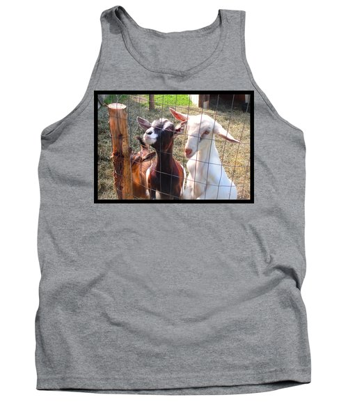 Tank Top featuring the photograph Goats by Felipe Adan Lerma