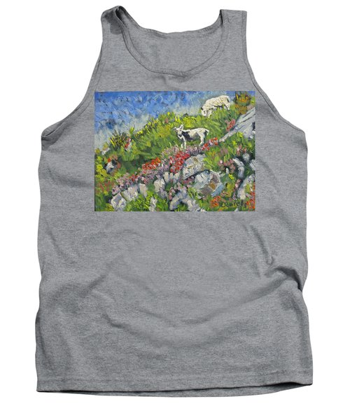 Goats On Hill Tank Top