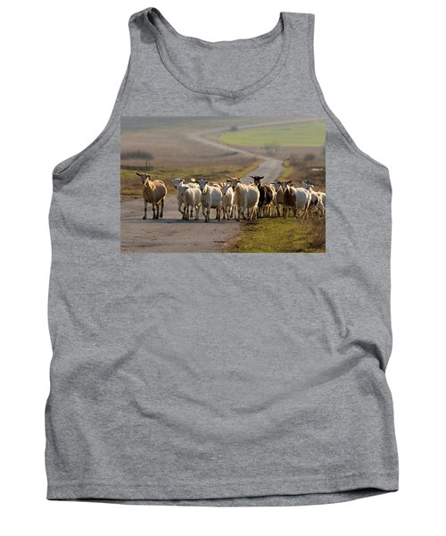 Goats Walking Home Tank Top