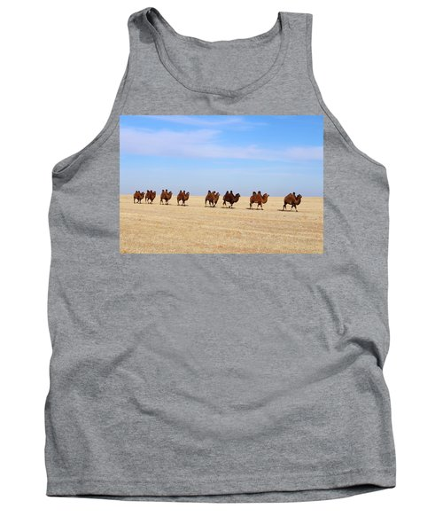 Gobi Camels Tank Top by Diane Height