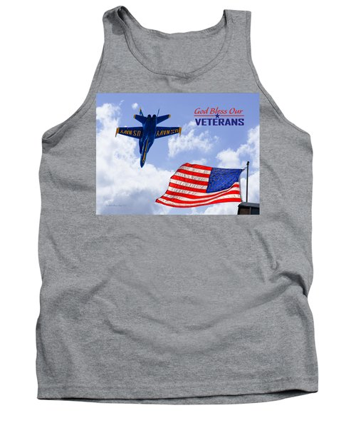 God Bless Our Veterans Tank Top