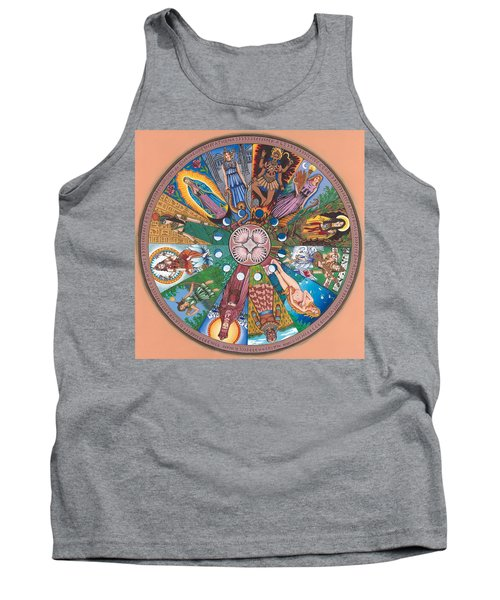 Goddess Wheel Guadalupe Tank Top by James Roderick