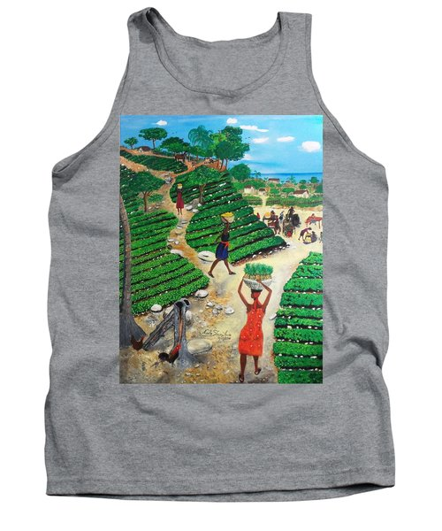 Going To The Marketplace #4 -  Walking Through The Terraces Tank Top by Nicole Jean-Louis