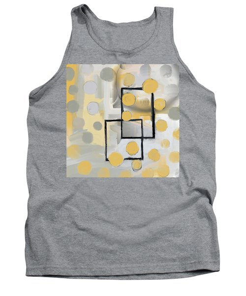 Gold And Grey Abstract Tank Top