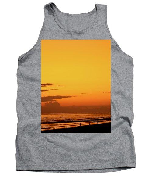 Golden Beach Sunset Tank Top