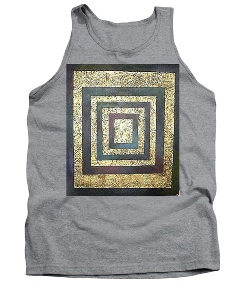Tank Top featuring the painting Golden Fortress by Bernard Goodman