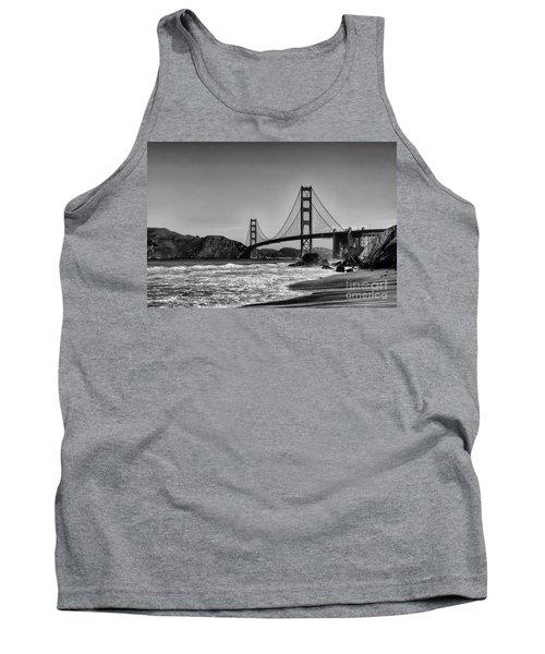 Golden Gate Bridge Black And White Tank Top