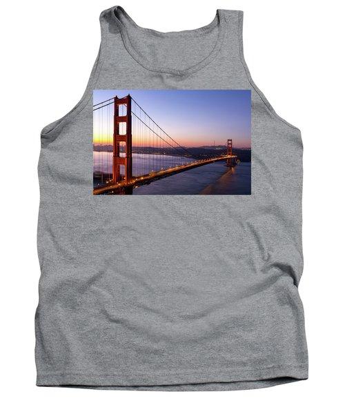 Golden Gate Bridge During Sunrise Tank Top