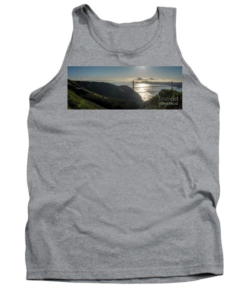 Golden Gate Bridge From The Road Up The Mountain Tank Top