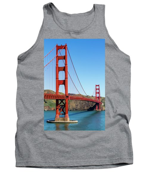 Golden Gate Bridge On Sunny Morning Tank Top
