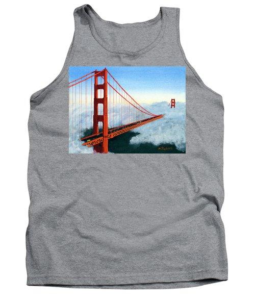 Golden Gate Bridge Sunset Tank Top