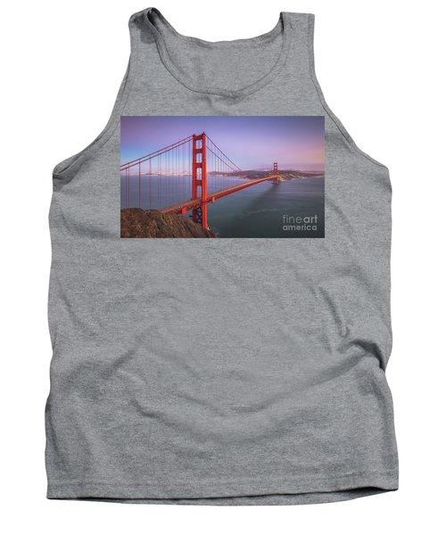 Golden Gate Bridge Twilight Tank Top by JR Photography